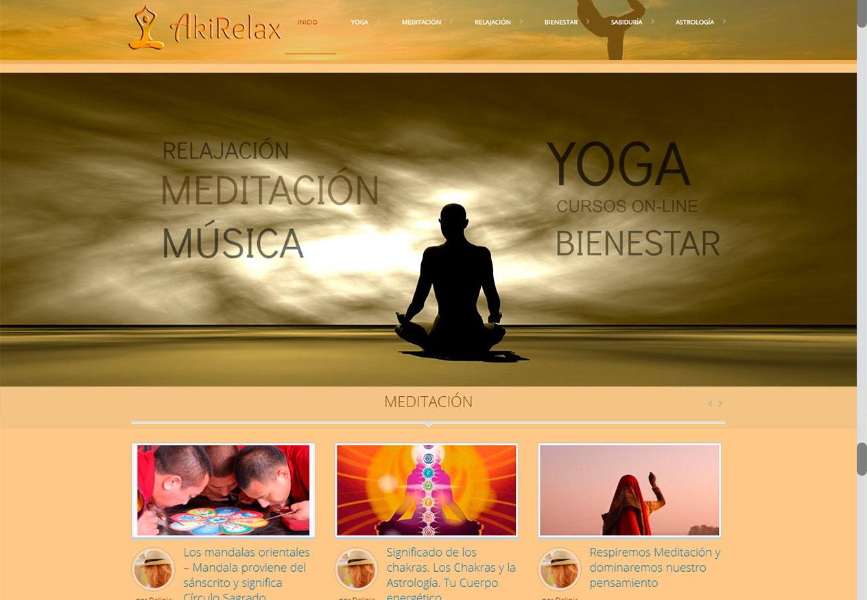 Paginas Web Seo Vilanova Sitges Calafell | Página Web Yoga y ...