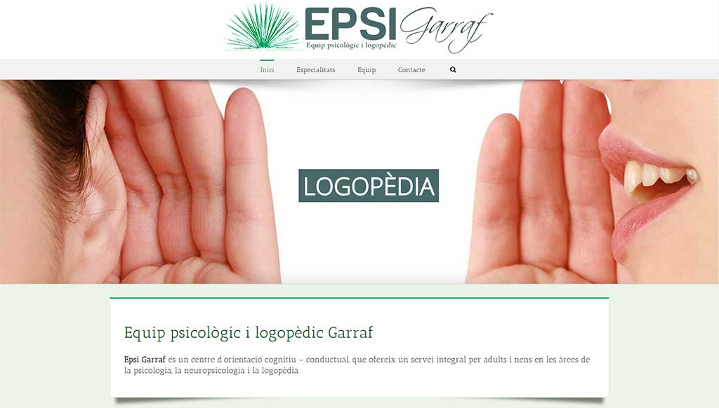 Epsi Garraf Centro Psicologia Logopedia Garraf